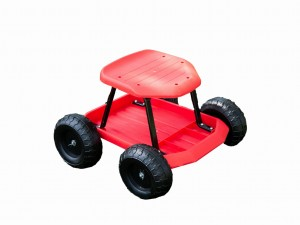 Seat on Garden Work Wheels 50x43x31 cm